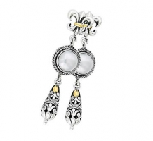 Silver Mabe Pearl Earrings