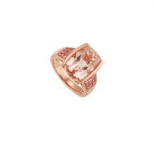 Genuine Morganite and Pink Tourmaline Ring