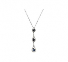 Diamond and Blue Sapphire Necklace