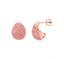 Genuine Pink Sapphire Earrings