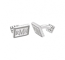 13x18mm 3 Letter Serif Monogram Cufflinks