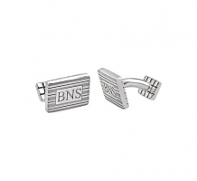Sterling Silver 3 Letter Serif Monogram Cuff Links