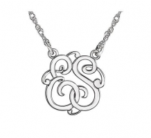 2 Letter Script Monogram Necklace
