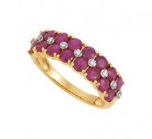 Genuine Mozambique Ruby and Diamond Ring