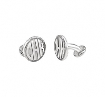 Sterling Silver 3 Letter Block Monogram Cuff Links
