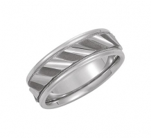 14KT White Gold Comfort Fit Design Wedding Band