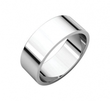 14KT White Gold Flat Wedding Band