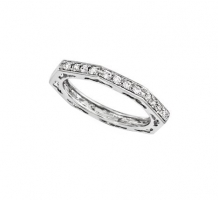 14KT White Gold Anniversary Band