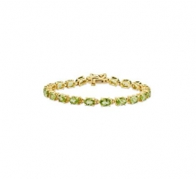 14KT Yellow Gold Oval Peridot Bracelet