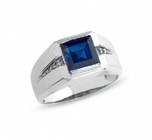 Blue Sapphire Mens Ring