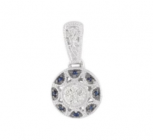.06 Blue Sapphire and Diamond Necklace
