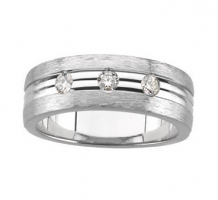 1/3 ct tw Men's Diamond Tapered Ring