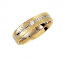 5mm Two-Tone .025 ct Diamond Design Band