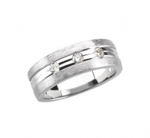 8mm Mens Diamond Wedding Band