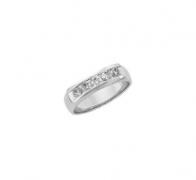 14KT White Gold Mens Diamond Wedding Band