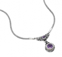 Silver Amethyst Necklace