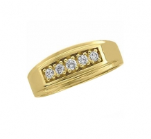 14KT Yellow Gold Mens Diamond Ring
