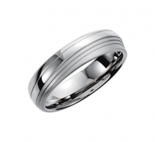 14KT White Gold Plain Design Wedding Band