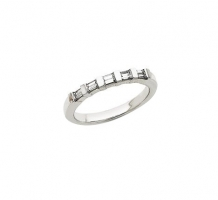 14KT White Gold Diamond Anniversary Band