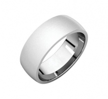 14KT White Gold Comfort Fit Light Wedding Band