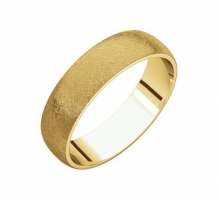 14KT Yellow Gold Half Round Light Wedding Band