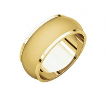 14KT Yellow Gold Half Round Edge Wedding Band