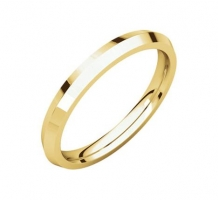 14KT Yellow Gold Knife Edge Wedding Band