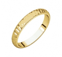 14KT Yellow Gold Half Round Wedding Band