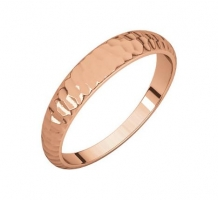 14KT Rose Gold Half Round Tapered Band