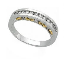Diamond Two Tone Anniversary Band