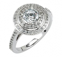 14K Round Entourage Engagement Ring or Band